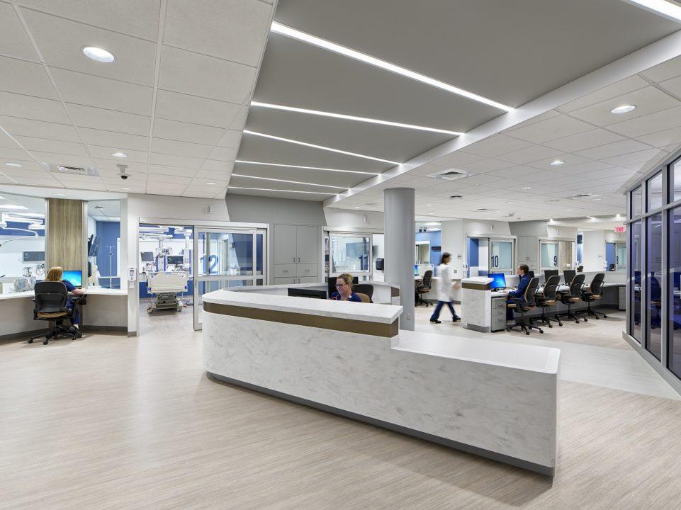Neuro ICU Open Floor Plan Design